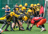 23 July 2017 at JMO Sports Park, Skelmersdale. BAFA Under19  Premier north division -  Merseyside Nighthawks v East Kilbride Pirates