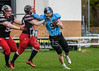 22 April 2018 at GHA Rugby Club, Glasgow. BAFA Premier Division match, East Kilbride Pirates v Sheffield Giants.