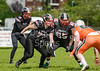 2 June 2019 at GHA Rugby Club, Braidholm, Glasgow. BAFA Division 1 North match - East Kilbride Pirates v Gateshead Senators.