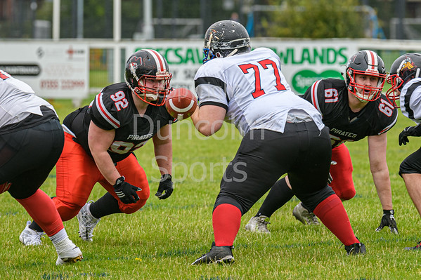 21 July 2019 at GHA Rugby Club. BAFA Division 1 North match - East Kilbride Pirates v Northumberland Vikings