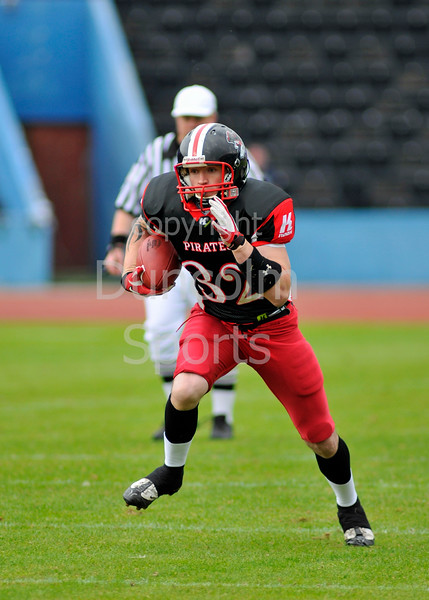 East Kilbride Pirates v Leicester Falcons. The Division 1 Final at Britbowl XXV, Played at Crystal Palace, London, on 4 September 2011.