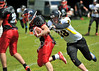 East Kilbride Pirates v Clackmannanshire Ravens. A Junior American Football game at Cartha Queens Park RFC on 21 June 2014.