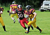 East Kilbride Pirates v Nottingham Caesars. A BAFACL Premier Division game at Cartha Queens Park RFC on 21 June 2014.