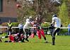 26 April 2015 at Hamilton RFC.<br /> East Kilbride Pirates v Yorkshire Rams. A BAFACL NFC Premier Division match.