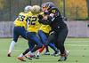 3 November 2019 at Garscube. BUCS American Football Division 2A Borders match -Glasgow University Tigers v Heriot Watt University Wolverines.