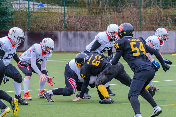 26 January 2020 at Garscube. BUCS Division 2 match - Glasgow University Tigers vs Teeside Cougars