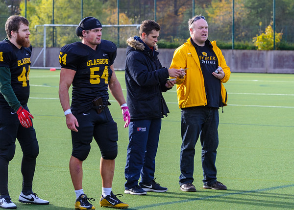 4 November 2018 at Garscube. BUCS Division 1 match -  Glasgow Uni Tigers v Newcastle Uni Raiders