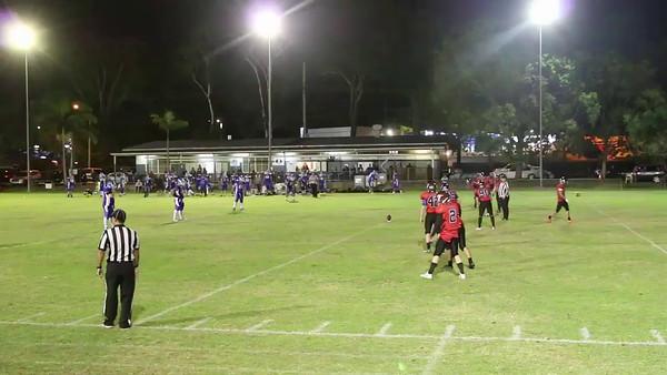 GQ - Brisbane Rhinos vs South Brisbane Wildcats - kick return, 1st play