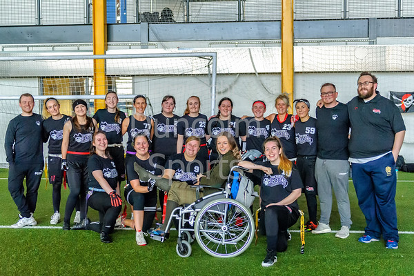 17 November 2018 at Ravenscraig Regional Sports Centre, Motherwell. BAFA flag football -  Opal Series 2018 round 4. <br /> East Kilbride Pirates