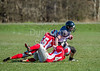 25 March 2016 at Queensferry Rugby Club. BAFA American Football Sapphire Women's Series, Round 3. <br /> Edinburgh Wolves v Leeds Carnegie Chargers