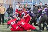 1 February 2020 at Toryglen, Glasgow. BAFA Sapphire Series match - East Kilbride Pirates v Leeds Carnegie Chargers