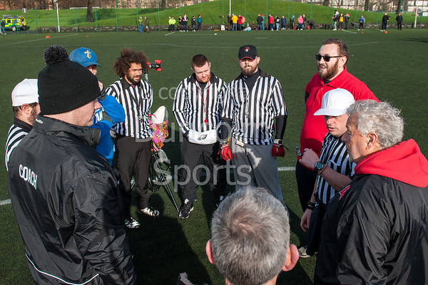 25 February 2016 at Crownpoint, Glasgow. BAFA American Football Sapphire Women's Series, Round 1.