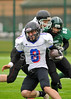Stirling Uni Clansmen v Sheffield Hallam Uni Warriors. A BUAFL Play-off match on 9 March 2014.