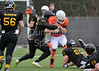 24 January 2016 at Garscube.  BUCS American Football 2015-2016 - Scottish/Northern 1A Division match.<br /> Glasgow Uni Tigers v Sunderland Spartans
