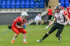 10 June 2018 at Meggetland, Edinburgh. BAFA Premier Division North game -  Edinburgh Wolves v East Kilbride Pirates