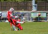 13 May 2017 at Meggetland, Edinburgh. BAFA Premier Division North American Football - Edinburgh Wolves v Tamworth Phoenix