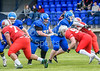 20 May 2018 at Meggetland, Edinburgh. BAFA Premier Division North match, Edinburgh Wolves v Manchester Titans