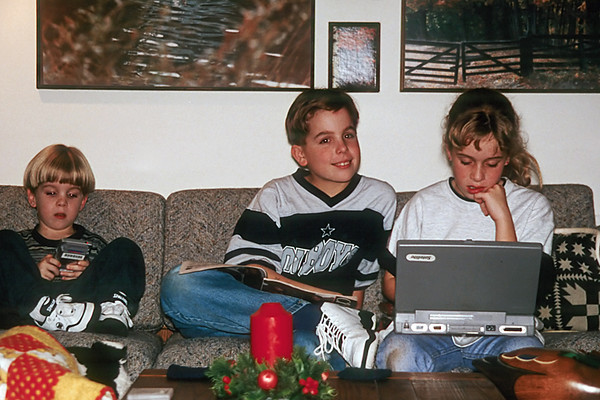 1996/12 Ben Josh and Melissa at Crakston St house in Houston