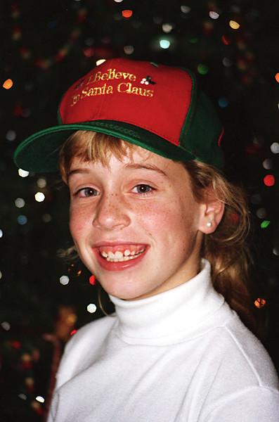 1996 TX Melissa in the Santa cap