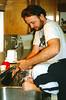 1996 TX Jim washing Joshs hair in the kitchen sink