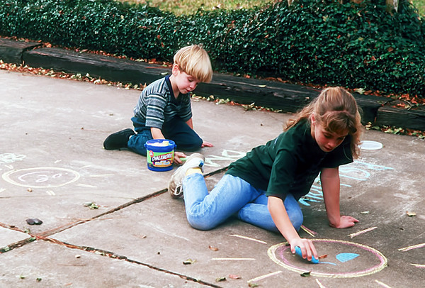 1996 12 Ben and Melissa tadem artists