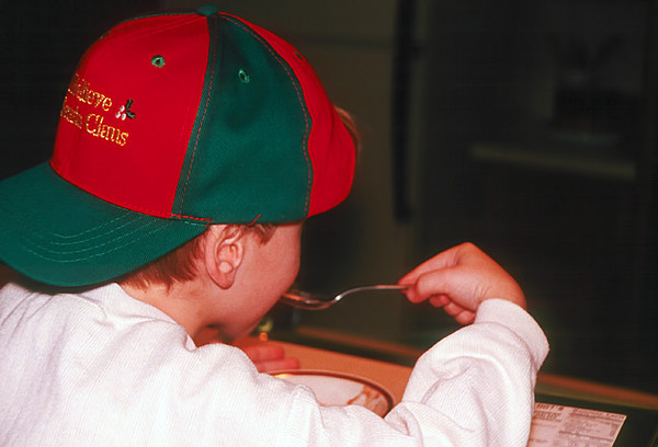 1996/12 Ben in the Santa cap