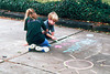 1996/12 Melissa and Ben do sidewalk art