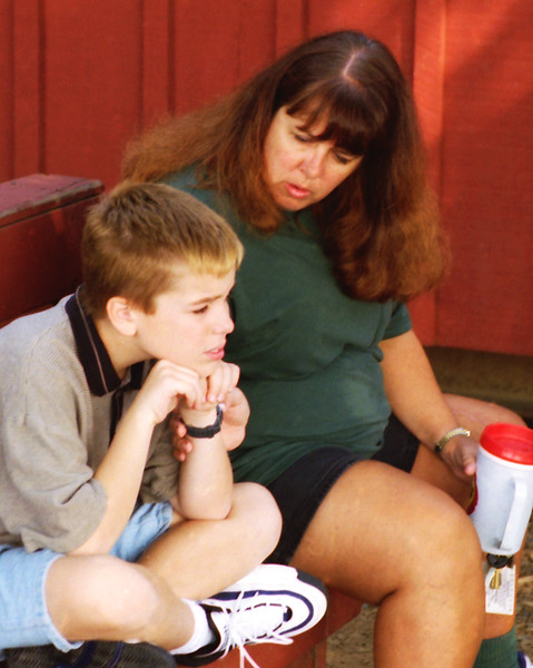 1994 PA Josh and Linda waiting for a buggy ride