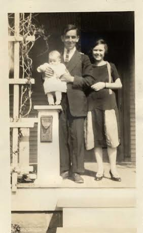 Late 1920's Clarence, Bill and Juanita Miers