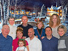 2008/11 - The Chandler Thanksgiving get together. BRLR: Barbara Grigsby, Bill Grigsby, Ruthie Bramson and Carla Chandler. FRLR: Pat Chandler, Chris Chandler Bramson holding daughter Charley Bramson, Steven Bramson, Joe Chandler and Kathy Chandler. Winter background added for a Holiday feeling.