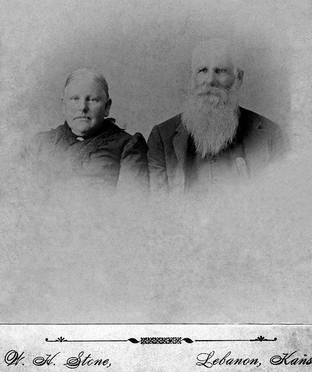 1896 - John A.P. and Amanda Hester:  A.P. and Amanda Phibbs Hester were the parents of Eva Hester Graves born in Antioch, Ohio in 1857 and died in Williamsburg, Kansas in 1930 (who was the mother of Lida Alma Graves Grigsby, our grandmother born in Streator, Illinois in 1878).  Amanda Phibbs was the daughter of Elizabeth Clemmons Phibbs who was born in 1790 and died in 1883.