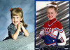 "2005 - 1992/2005 Our kids grow up so fast:  This composite from 2 of the photos contributed by proud father Jim Miers shows his daughter, Mackenzie Miers, when she was 3 years old and about the same age as her grandmother, Anna Maree Grigsby, shown in a 1933 image on this Web site. Jim says that Mackenzie has his mother's sweet, happy disposition. The right side of the composite shows ""Kenzie"" in 2005 when she and her team mates from Cherry Creek high school won 4th place in the National Dance Team Championships at Orlando, Florida. The photo demonstrates how fast ""our kids"" grow up and make all of us ""geezers"" proud of them!"