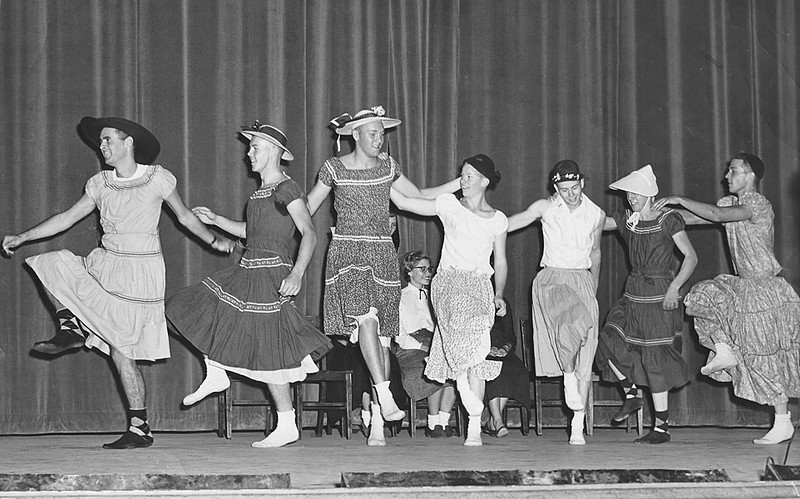 Old photos from 50s and 60s South high boys dance line