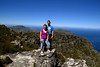 2013/02 Family Jodi and David standing high on Table Top Mountain in Cape Town, South Africa