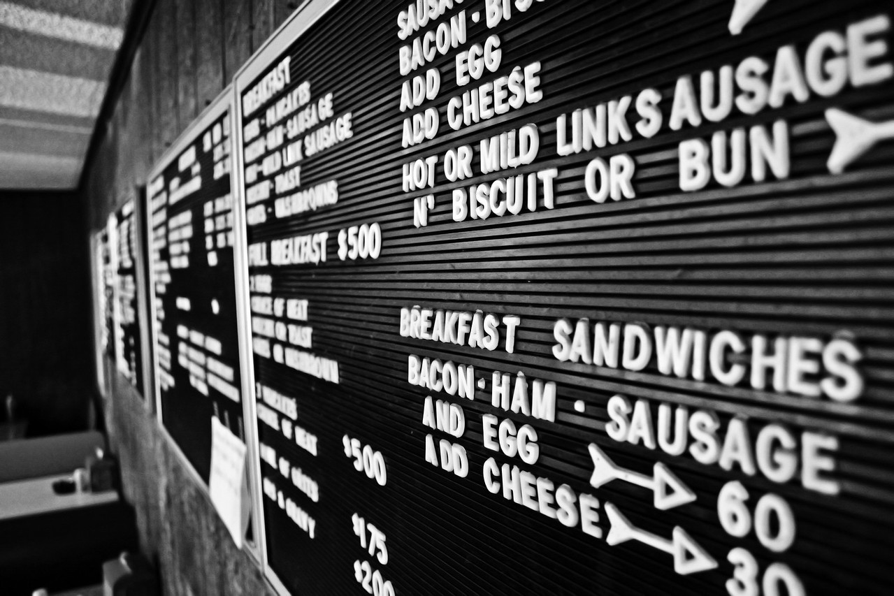 Some photos just scream for Black and White! These Mississippi Delta photos are no exception. Southern Food! The best in the world. From fried chicken to bottled peppers, we have it all! Some things just scream southern when you first see them. These signs were found throughout the delta.