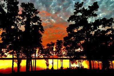 Sundown on Lake Marion