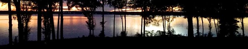 Silver Panorama of Lake Marion