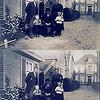 F0019<br /> Fam. Oostveen. De foto is genomen naast woonhuis Hoofdstraat 145a (nu 203). Op de achtergrond het woonhuis van ds. Krijkamp? Nu bewoond door fam. P. Langeveld.<br /> <br /> 1: Arie Oostveen<br /> 2: Arie Vromesteijn (vader van mevr. Oostveen)<br /> 3: Wim Oostveen<br /> 4: dhr. Adr. B. Oostveen (1890)<br /> 5: mevr. Maria C. Oostveen-Vromesteijn (1889)