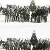 F1556   <br /> Chr. Fanfarekorps Crescendo. Het Oranjefeest stond in 1923 in het teken van het 25-jarig regeringsjubileum van koningin Wilhelmina. De foto is gemaakt op de Oosthaven; daar begon de optocht.<br /> <br /> 01Jan Koolman<br /> 02Bernard Moolenaar (voorzitter)<br /> 03W.J. Smolders (dirigent)<br /> 04Siep de Vries<br /> 05Antoon van Nieuwkoop<br /> 06Gijs Overvliet sr.<br /> 07Piet Moolenaar Jzn<br /> 08?  Kersten (vaandeldrager)<br /> 09Arie Oudshoorn<br /> 10Antoon Moolenaar Bzn<br /> 11Piet Moolenaar Bzn<br /> 12Arie Dwarswaard<br /> 13Bert Jägel sr.<br /> 14Rinus Moolenaar<br /> 15Gidion Heemskerk<br /> 16Pauw Star<br /> 17Jan Vos of Jan Dueriox<br /> 18Teun van Leeuwen of Toon van Helden<br /> 19Cees van der Heiden<br /> 20Gerrit Filippo