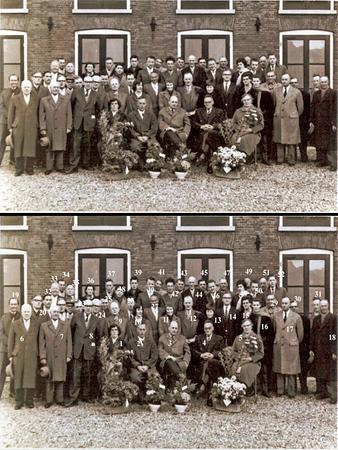 F1521a <br /> 25-jarig arbeidsjubileum van de heren Jan Helmus en Arie Kroes bij N.V. Baartman & Koning omstreeks 1970<br /> <br /> 1Mevr. Helmus<br /> 2Jan Helmus<br /> 3Anton J.J. Arentshorst<br /> 4Arie Kroes<br /> 5mevr. Kroes<br /> 6Jan Duijm<br /> 7dhr. Noordermeer?<br /> 8Arie Koppier<br /> 9Kees Luijk<br /> 10Agaath de Vroomen<br /> 11Anneke Stellingsma<br /> 12Hannes van Diest<br /> 13<br /> 14Peter Arentshorst<br /> 15Joke Dannijs<br /> 16<br /> 17Jan Rozenbroek<br /> 18<br /> 19<br /> 20Jan Verhoog<br /> 21Freek Homan<br /> 22Kees van der Meer<br /> 23Albert Tukker<br /> 24Toon van Diest<br /> 25Willem van Ruiten<br /> 26Klaas Tukker<br /> 27Albert Helmus<br /> 28<br /> 29dhr. Weijers, Warmond<br /> 30  (een Voorhouter)<br /> 31<br /> 32<br /> 33 Jan Sikking<br /> 34<br /> 35<br /> 36 Wietske Tukker<br /> 37 Willem Passchier<br /> 38<br /> 39<br /> 40Piet Duivenvoorde<br /> 41Aleida van Teylingen<br /> 42Dries Staal<br /> 43Cor van der Plas<br /> 44Toon  Berg?<br /> 45<br /> 46Rinus Perfors<br /> 47<br /> 48Janny Koppert<br /> 49Klaas van Diest<br /> 50Henk van Rijn<br /> 51Huub Zoet<br /> 52Jan van der Nouland
