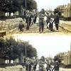 F0228  Stratenmaken bij de 'Oude Post', ca 1920. <br /> <br /> 01Verbeek?<br /> 02Roen van Dijk (heeft jarenlang in de Berkenlaan gewoond)<br /> 03Cor van der Poel uit de Zuiderstraat (de witte keizer)<br /> 04Gerrit Hogervorst<br /> 05<br /> 06Arie van Kesteren (kantonnier in Lisse) <br /> 07Jacobus van Kesteren (kantonnier in Sassenheim)