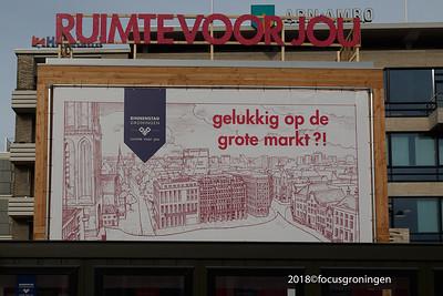 nederland 2018, groningen, grote markt, let's gro