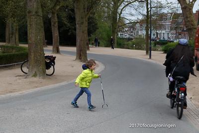 nederland 2017, groningen, kruissingel, lentekriebels