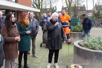 nederland 2020, groningen, goudlaan, eerste containertuin groningen, marjet woldhuis en glimina chakor