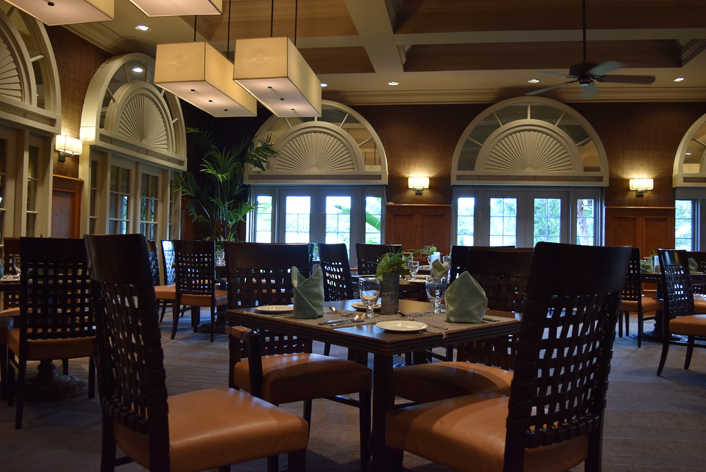 Hibiscus Dining Room serving traditional European and Bermudian cuisine at Grotto Bay Beach Resort & Spa.
