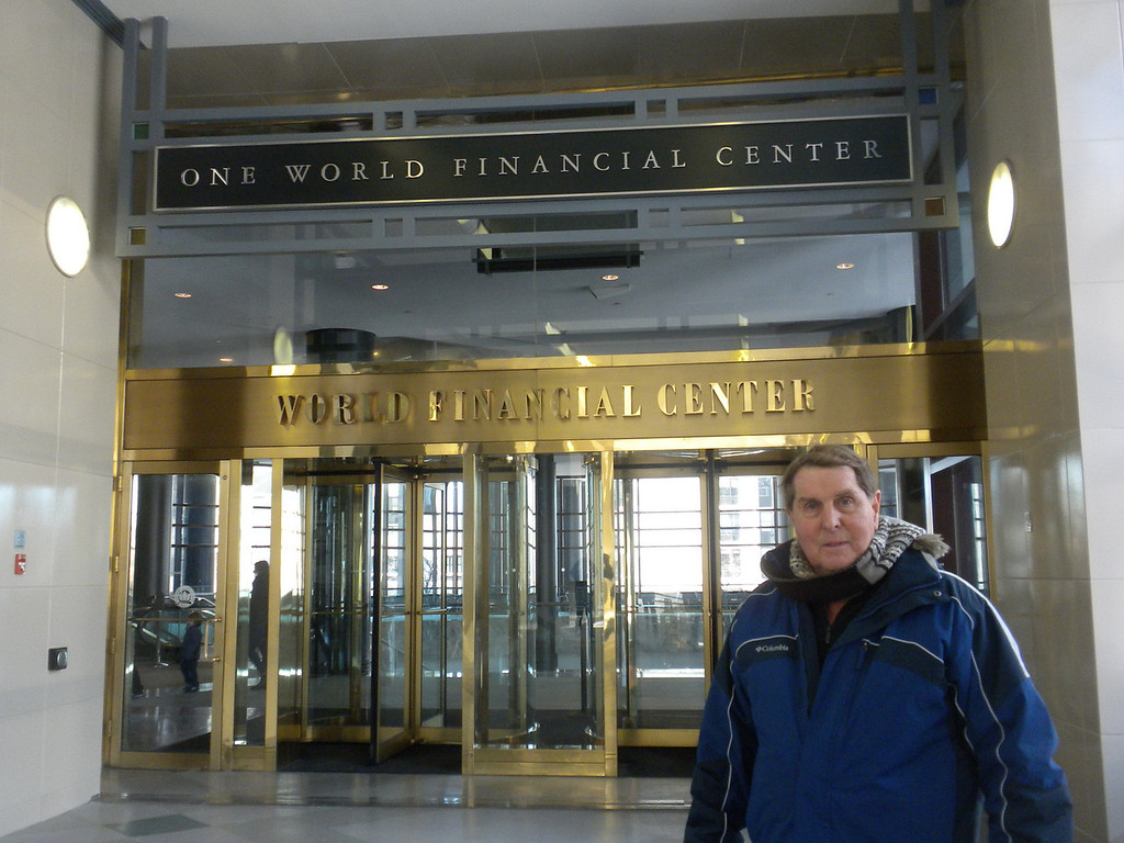 Tom in front of the One World Financial Center across the street from Ground Zero