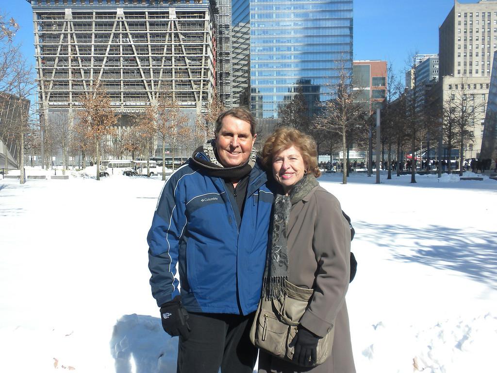 Tom and Betty visit Ground Zero, 911 Memorial
