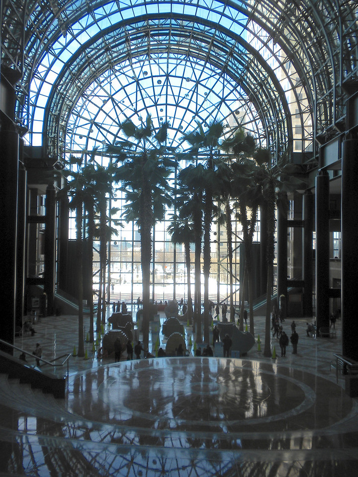 The Winter Gardens inside of the One World Financial Center across the street from Ground Zero