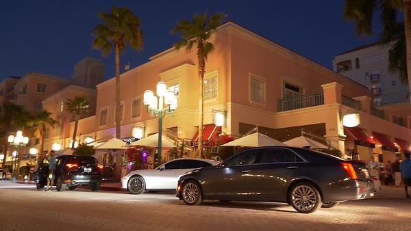 Stock video Mizner Park night evening lifestyle center