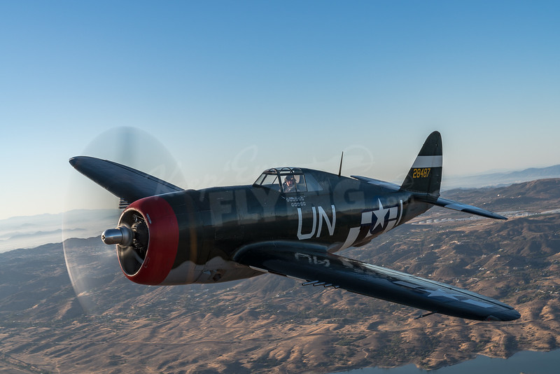 Steve Hinton Jr. in Planes of Fame's P-47 Thunderbolt